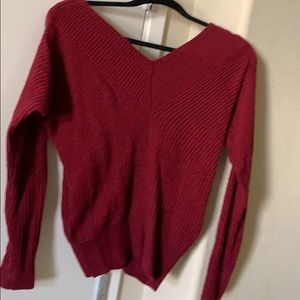 V neck front and back will sweater